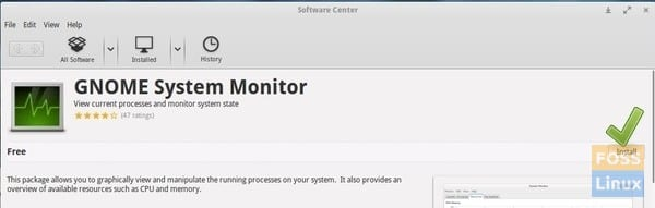 GNOME System Monitor - Software Center