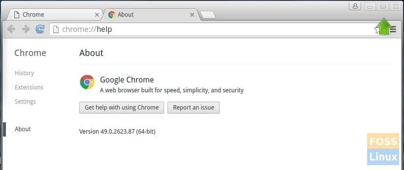 Google Chrome - Minimize, Maximize, Close on top right corner