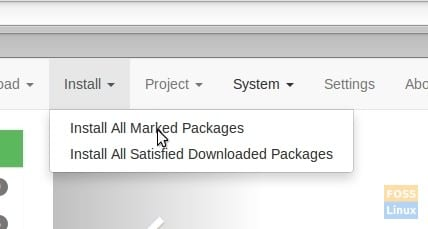 Install all Marked Packages