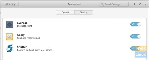 Startup Items in elementary OS Freya