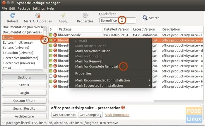 Synaptics Package Manager
