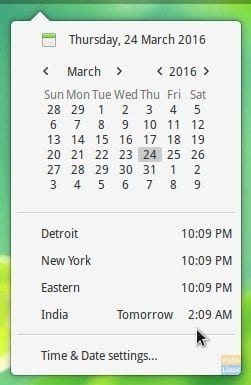 elementary OS clock tweak - New time zones added