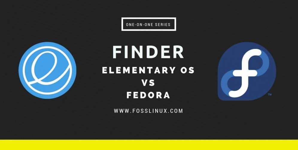 finder - elementary os vs fedora