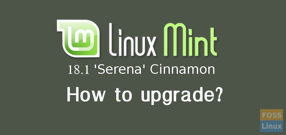 How to upgrade to Linux Mint Serena