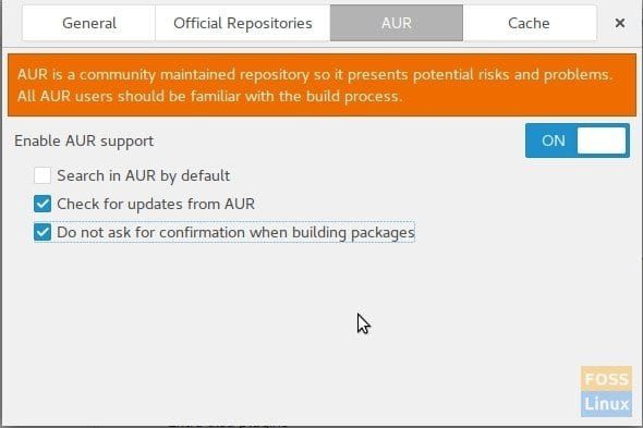 Enable AUR Repository