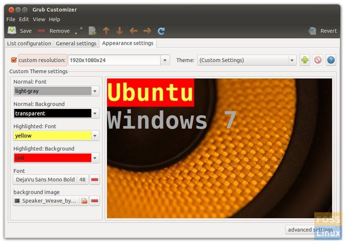 Grub Customizer – GUI to customize GRUB/BRUG for Ubuntu, Linux Mint