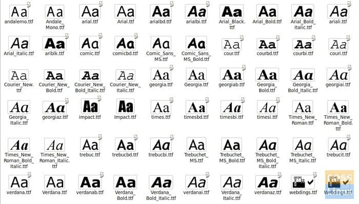 Microsoft True Type Fonts Pack