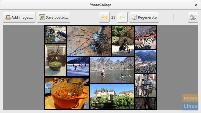 PhotoCollage for Linux