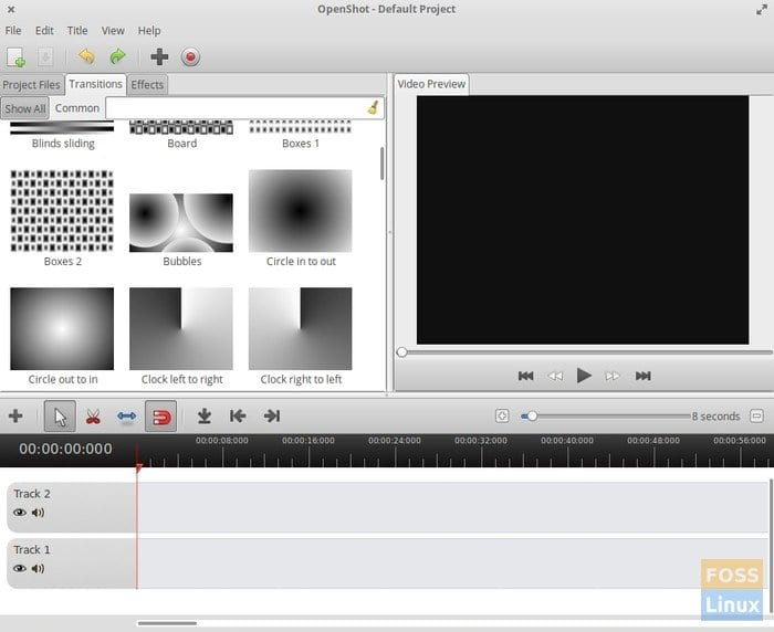 OpenShot Video Editor running in elementary OS loki
