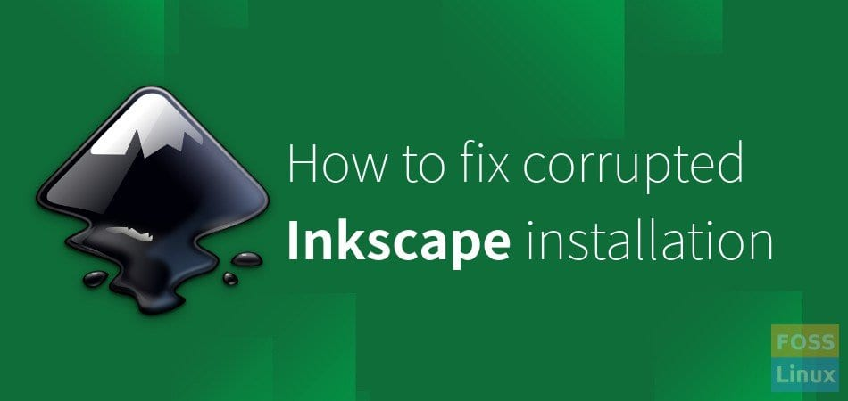 fix corrupted inkscape installation ubuntu