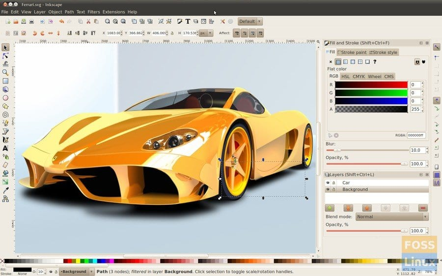 Ferrari Rendered in InkScape