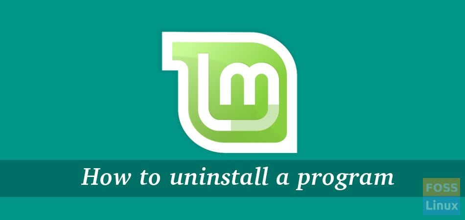 Uninstall program linux mint