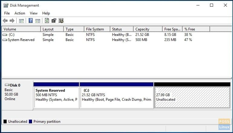 Partitions created for Manjaro installation