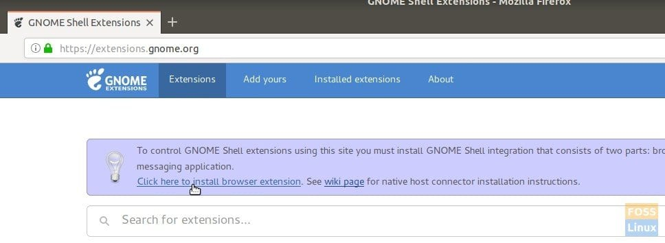 Installing GNOME extensions