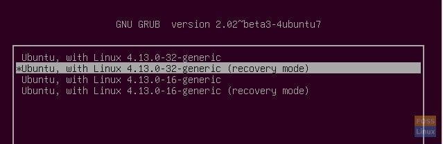 GRUB Advanced Options