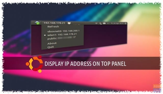 how to show my ubunto desktop ip address