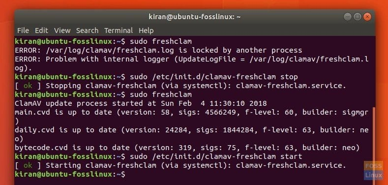 How to clean virus by command line scan in Ubuntu and Linux Mint