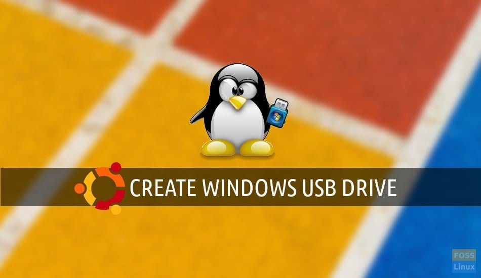 create windows usb drive