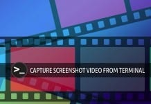 Capture screenshoot video terminal