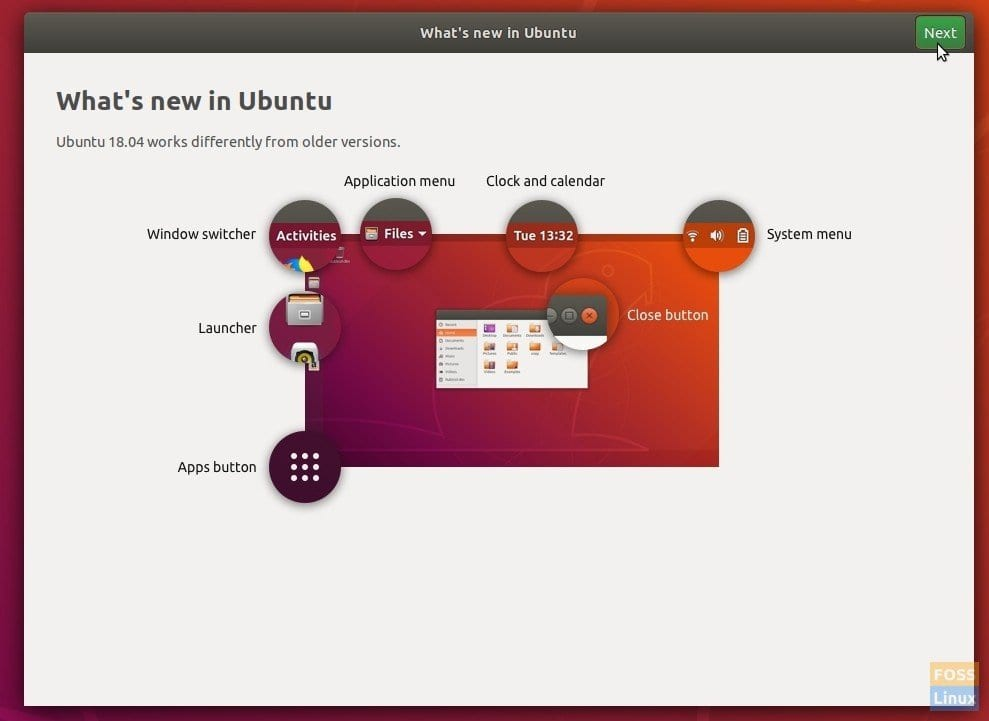 Ubuntu 18.04 New Welcome Screen
