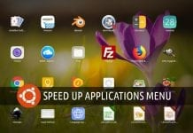 Speed up applications menu in Ubuntu