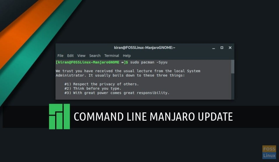 How to update Manjaro using command line in the Terminal - FOSS Linux
