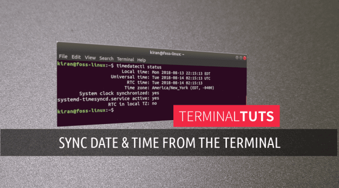 sync time command line ubuntu