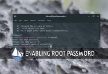 Enable root password in solus