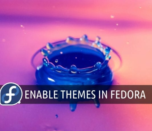 Installing themes in Fedora