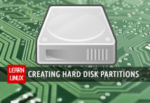 Creating hard disk partitions