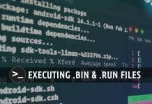 Execute binary files linux