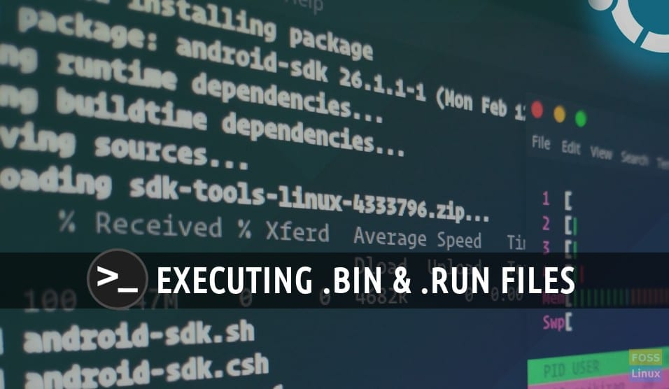 How to execute a  run or  bin package in Linux