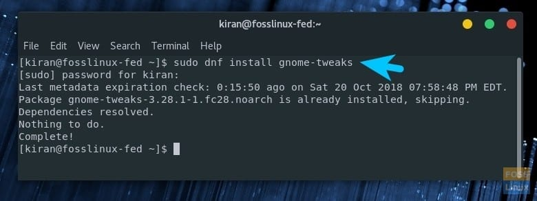 How to install GNOME shell extensions in Fedora