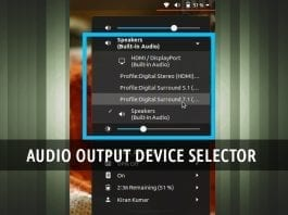 Select Audio Output Device featured