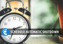 schedule automatic shutdown