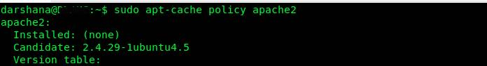 Check available Apache Version