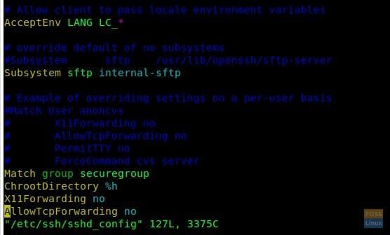 Configure OpenSSH to restrict access with SFTP Jails | FOSS