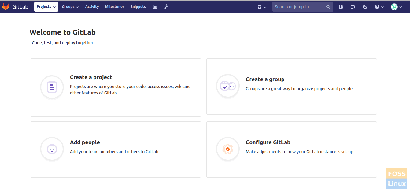 GitLab Welcome Page