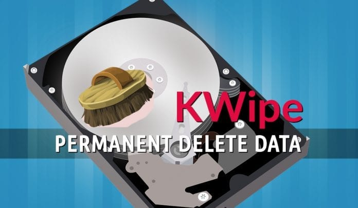 wipe hard disk using KWipe