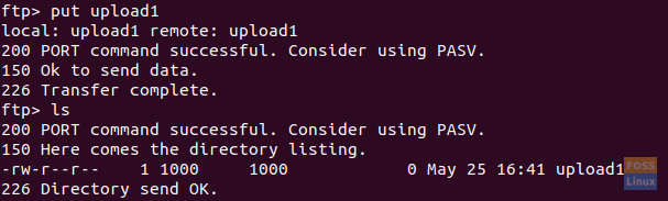Upload One Single File To The FTP Server