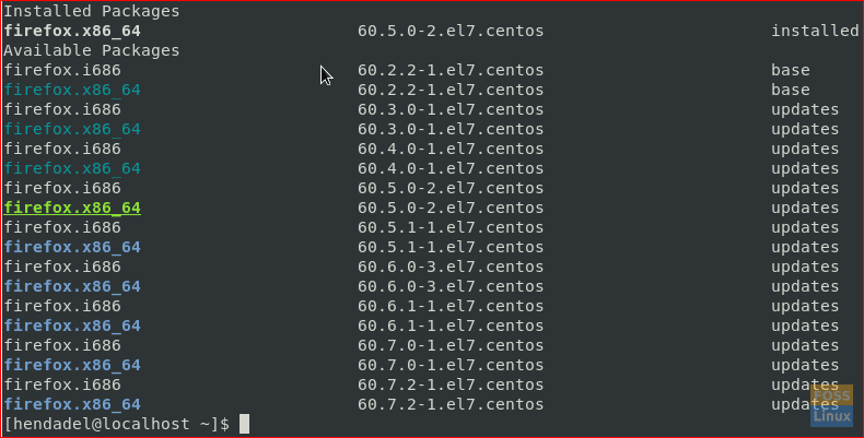 How to downgrade packages on CentOS - FOSS Linux