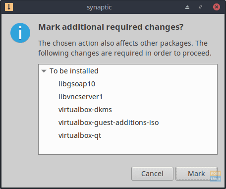 When prompted with the Mark additional required changes? window, click Mark