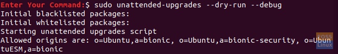 Test unattended-upgrade Package Configurations