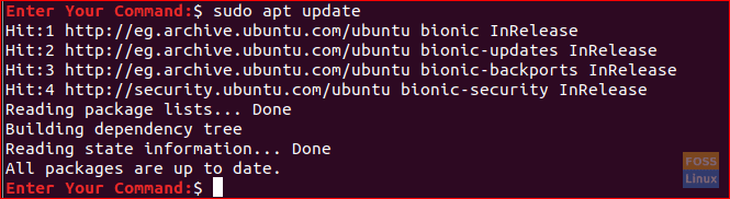 Update The Ubuntu Packages Index