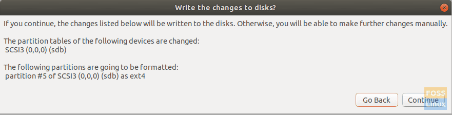Write Changes To Disk