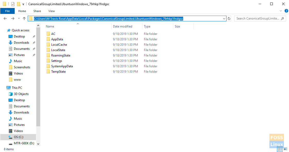 Location of WSL directory/files under Windows