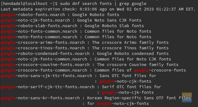 Filter Results By Google Fonts Only