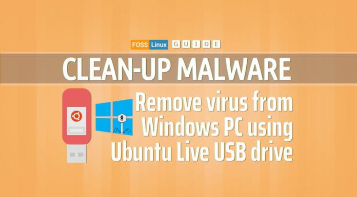 clean virus ubuntu live CD