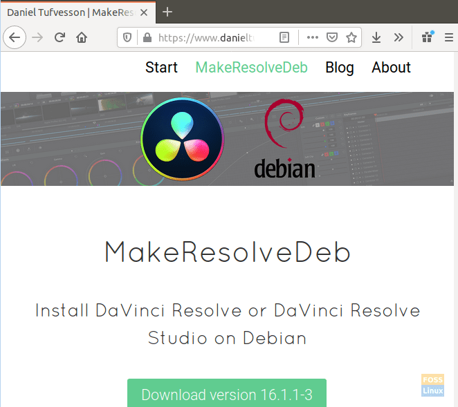 Download The Make Resolve Deb Script