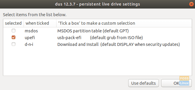 """Select The """"usb-pack-efi (default grub from ISO file)"""" Entry"""